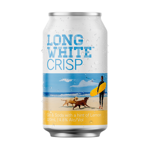 Long White Crisp Gin Soda Lemon 10 pack - Drinks Trolley | Asahi NZ