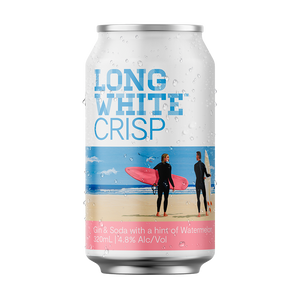 Long White Crisp Gin Soda Watermelon 10 pack - Drinks Trolley | Asahi NZ
