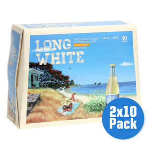 Long White Passionfruit 2 x 10 pack - Drinks Trolley | Asahi NZ