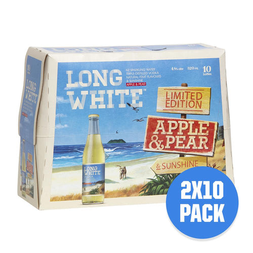 Long White Vodka Apple & Pear 2 x 10 pack - Drinks Trolley Asahi | NZ