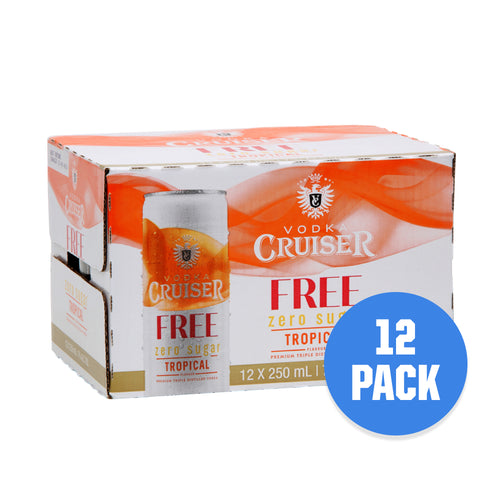 Vodka Cruiser 7% Tropical Sugar Free 12 pack - Drinks Trolley Asahi | NZ
