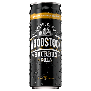 Woodstock 7% Extra Bourbon & Cola 18 pack - Drinks Trolley | Asahi NZ