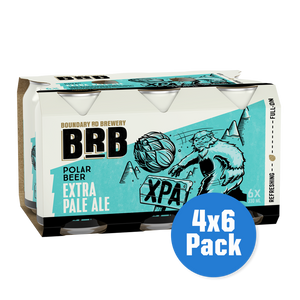 BRB Polar Beer Extra Pale Ale 4 x 6 pack - Drinks Trolley | Asahi NZ