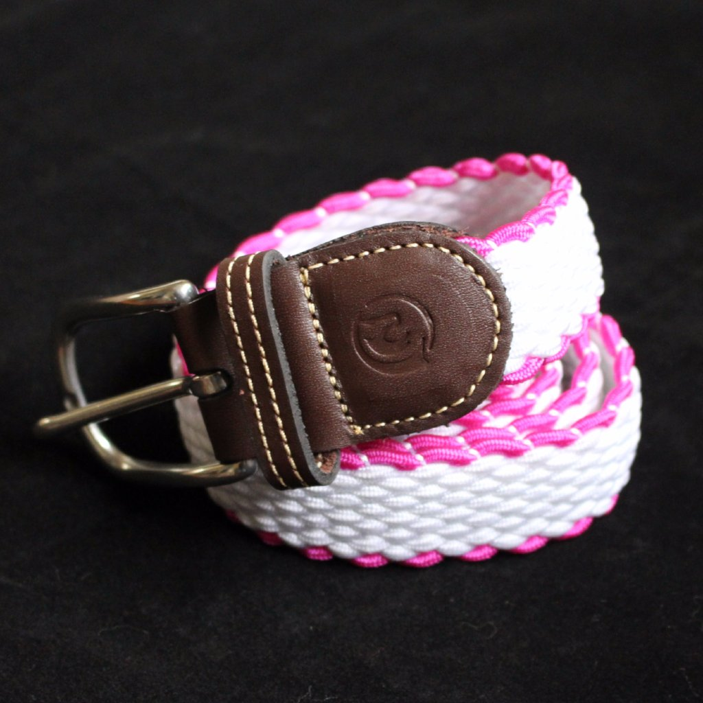 Stretchy Belt - PINK / WHITE