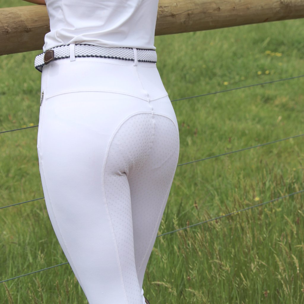 Go 2 Luxury Riding tights  - WHITE