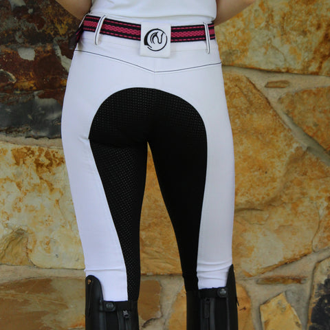 Sam Pro Coolmax Breeches  - WHITE (with black seat)
