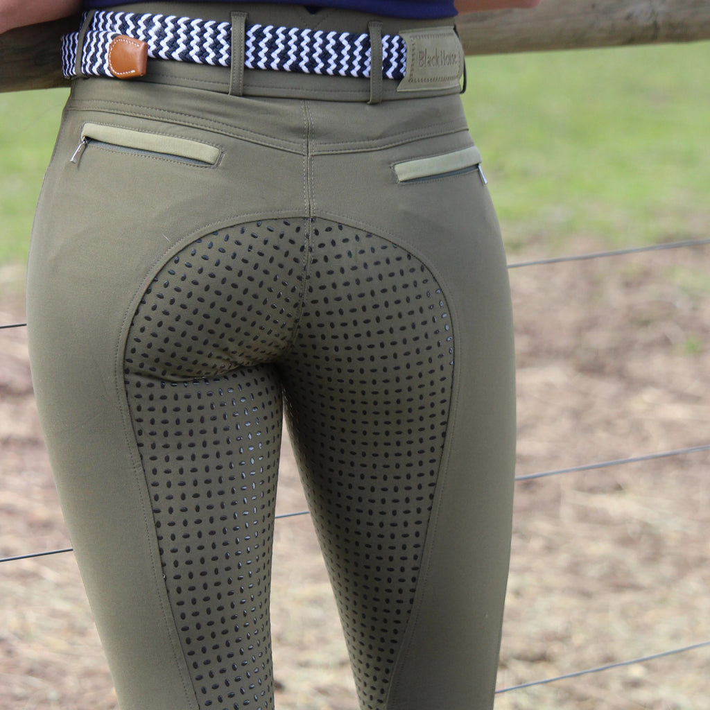Anna - IVY GREEN New Colour !high waisted bamboo breeches
