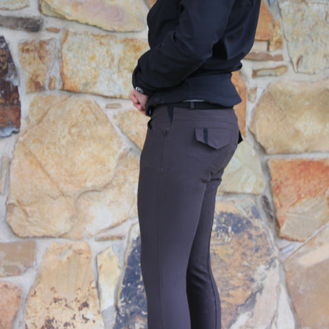 Whiskey Mens Meryl Breeches- Brown