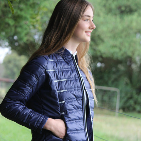 Alpine puffa jacket - NAVY