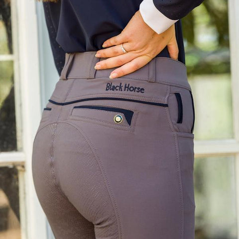 Bianca Meryl Comfort Breeches - Grey / Navy