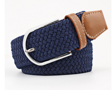 Stretchy belt- Plain navy
