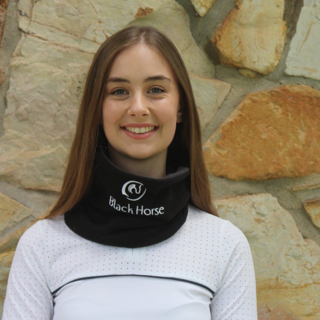 Polar fleece neck warmer - Black