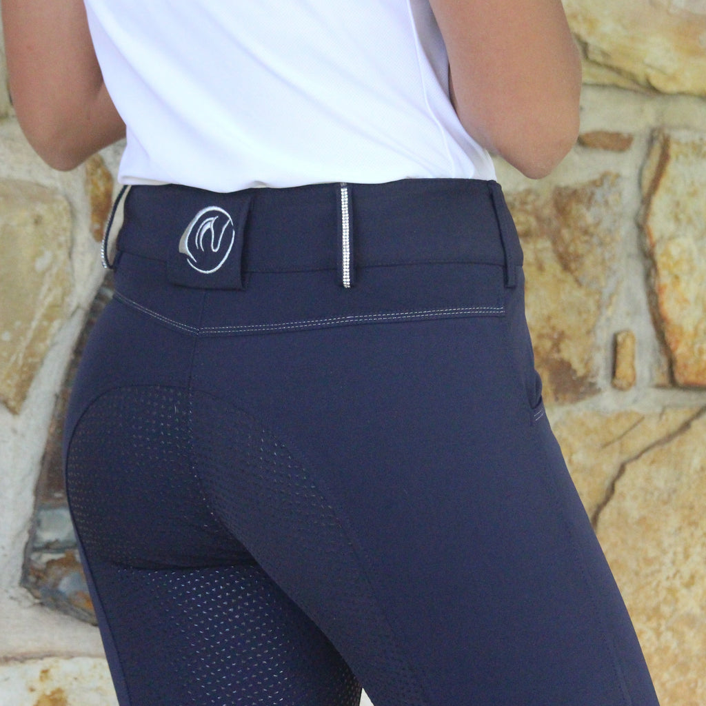 Sam Pro D Diamonte Coolmax Breeches - Navy