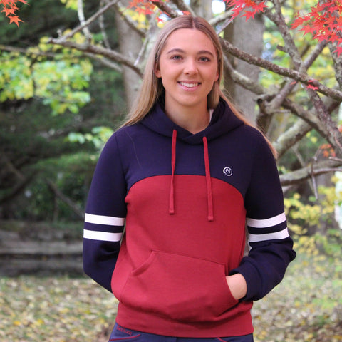 Spliced Scuba Hoodie - Navy/red-Pre orders for May ! st