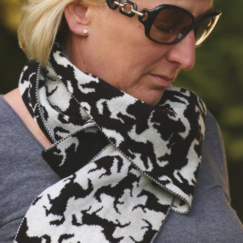 Signature Black Horse Scarf