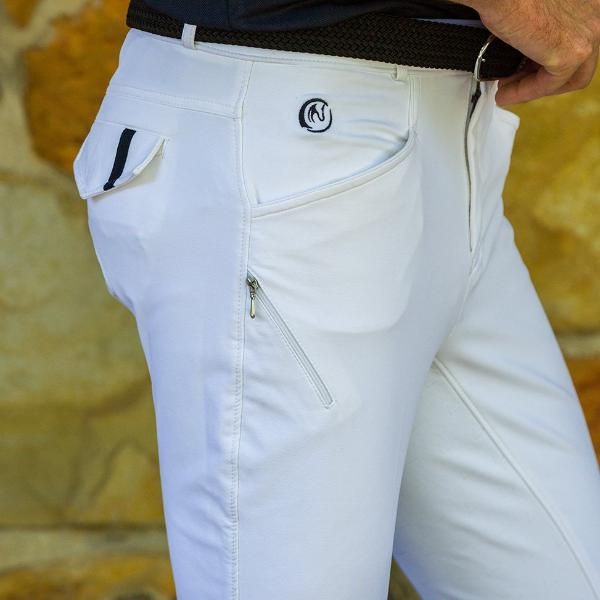 Whiskey Mens Meryl Breeches - White