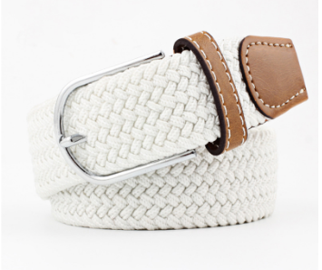 Stretch Belt - plain white