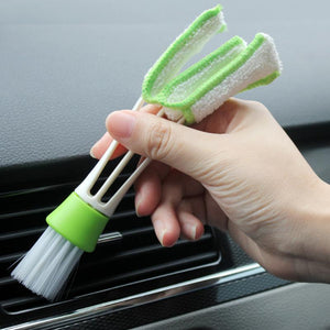 1PC Car Cleaning Brush Double Ended Car Air Conditioner Vent Slit Cleaner Brush Dusting Blind Keyboard Cleaning Brushes Cleaner