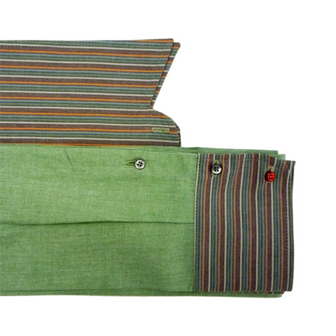 Green and Multistripe Kragenschal