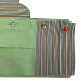 Collar Scarf in Green and Multistripe