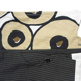 Collar Scarf in Black and Beige Circles