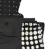 Collar Scarf in Black and White Dots