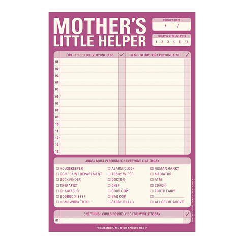 Mother's Little Helper Pad