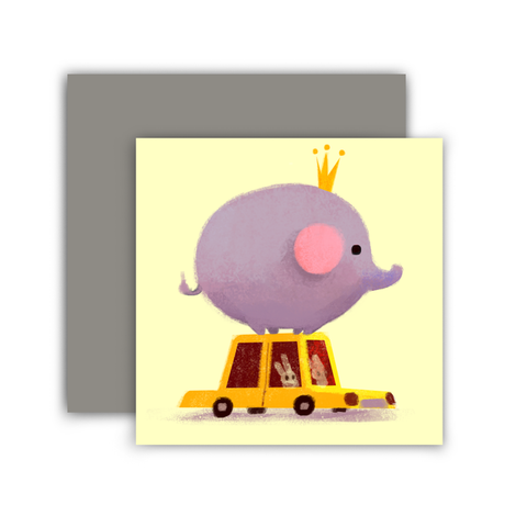 Elephant Taxi Mini Card