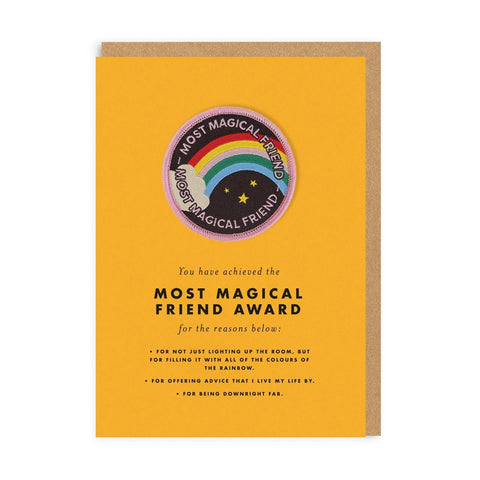 Most Magical Friend Woven Patch with Greeting Card