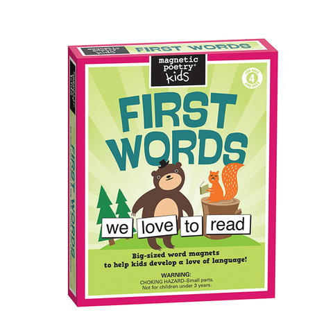 Magnetic Poetry in First Words