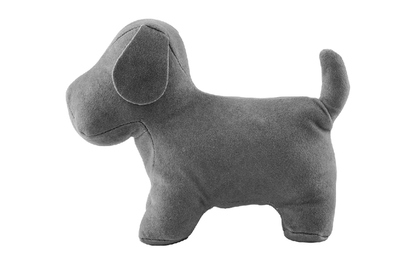 Gray Puppy Soft Bookend
