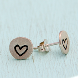 Tiny Love Earring Studs