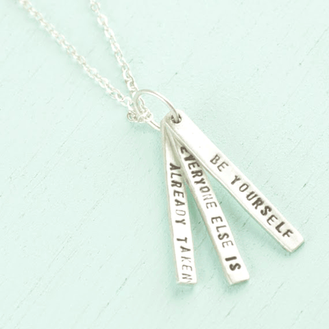 Necklace Quote by Oscar Wilde in Sterling Silver