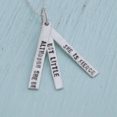 Necklace Quote by Shakespeare in Sterling Silver