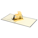 Dog and Baby Carriage Popup Card