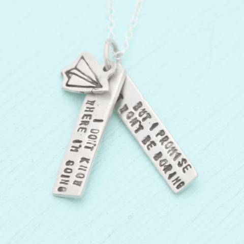 Necklace Quote by David Bowie in Sterling Silver