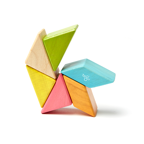 Magnetic Wooden Blocks Pocket Pouch in Prism