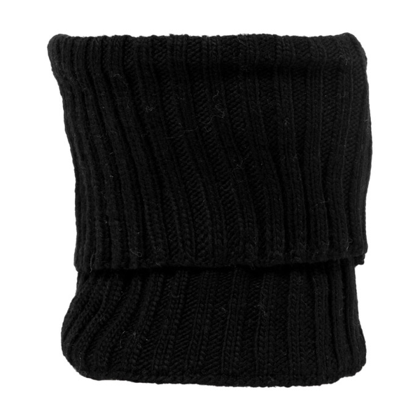 Nirvanna Soft Wool Rib Knit Neckwarmer