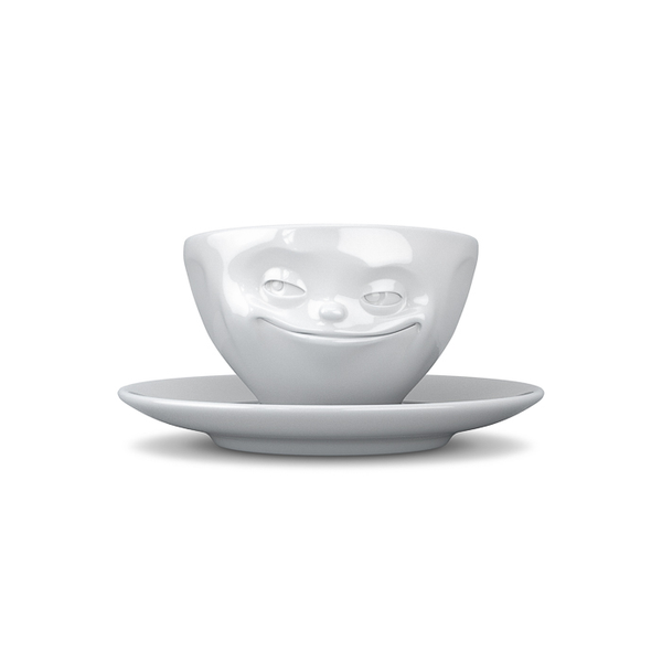 Tassen Grinning Face Espresso Coffee Cup and Saucer