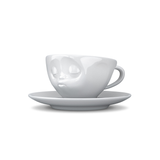 Tassen Kissing Face Espresso Cup and Saucer