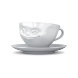Tassen Grinning Face Coffee Cup and Saucer