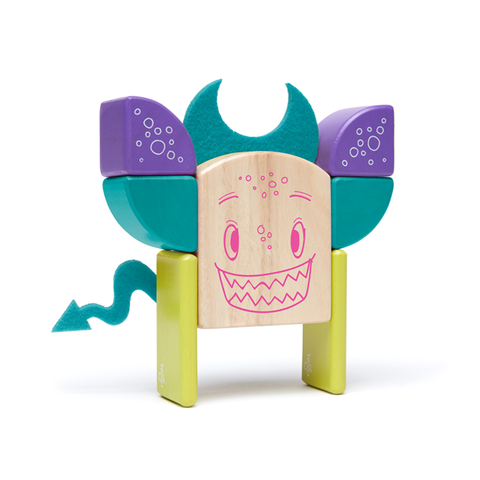 Sticky Monsters Magnetic Wooden Blocks in 8-piece Pip