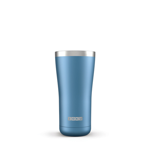 metallic blue zoku 3 in 1 stainless steel tumbler