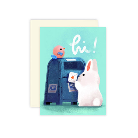 Snail Mail Bunny Card
