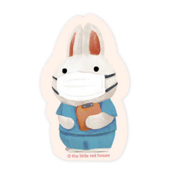 Medical Bunny Vinyl Sticker