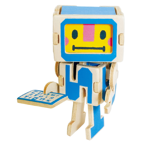 Play Deco 3D Robot Congratulations Card