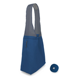 blue flip and tumble reusable shopping bag