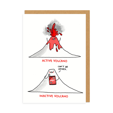 Active Volcano Greeting Card
