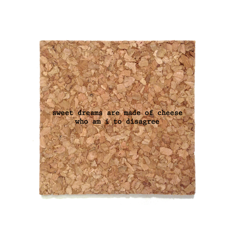 Mistaken Lyrics Coaster - Cheese (Sweet Dreams)