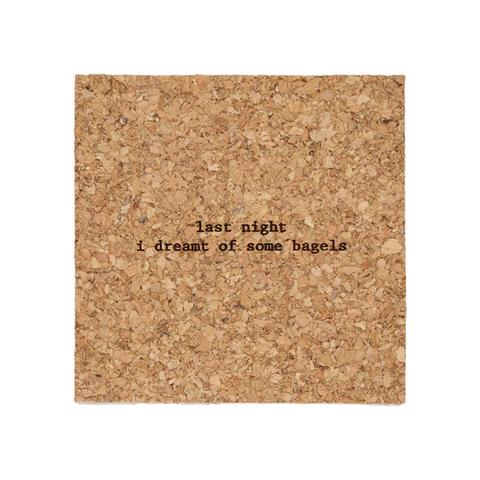 Mistaken Lyrics Coaster - Bagels (La Isla Bonita)